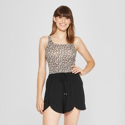 Women's Any Day Animal Print Tank - A New Day™ White Blush XS