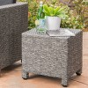 Puerta Wicker Side Table - Christopher Knight Home - image 2 of 4