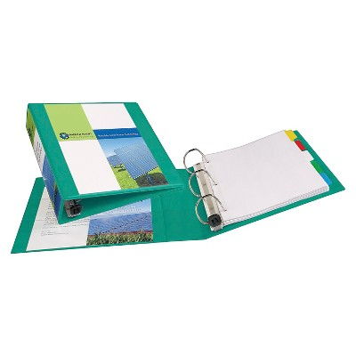 Avery® 2  Heavy Duty 3 Ring Binder with Clear Cover Green