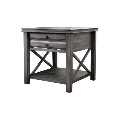 Felicity Wood End Table Gray - Abbyson Living
