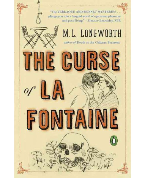 Curse of La Fontaine -  (Verlaque and Bonnet Mystery) by M. L. Longworth (Paperback) - image 1 of 1