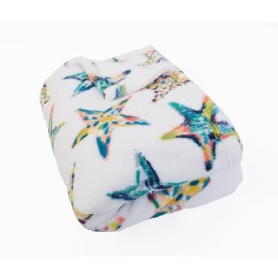 "50""x70"" Staffi Starfish Printed Loft Fleece Decorative Throw Turquoise - Décor Therapy"