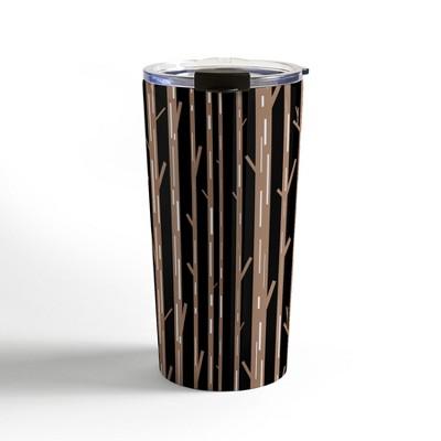 Lisa Argyropoulos Modern Trees Black Travel Mug20 oz Stainless Steel Travel Mug - Deny Designs