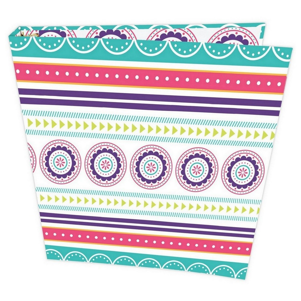 Fashion Composition Binder Medallions (1 inch) - Bloom, Multi-Colored