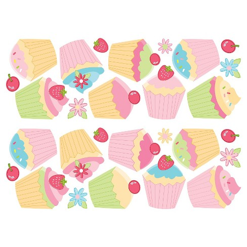 Fun4Walls Cupcake Stikarounds - Pink/Yellow - image 1 of 2