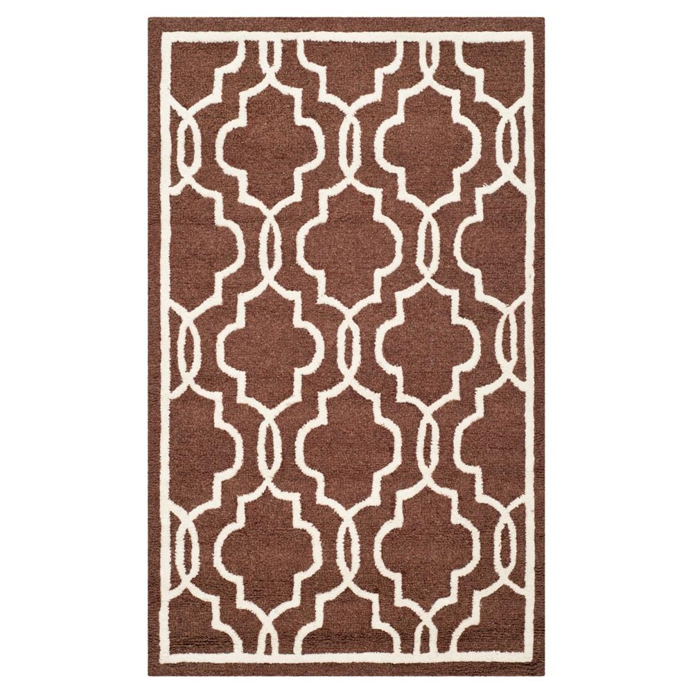 Langley Textured Rug - Dark Brown / Ivory (4' X 6') - Safavieh, Ivory/Brown