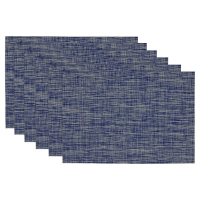 Blue Tonal Tweed Placemat (Set Of 6)- Design Imports