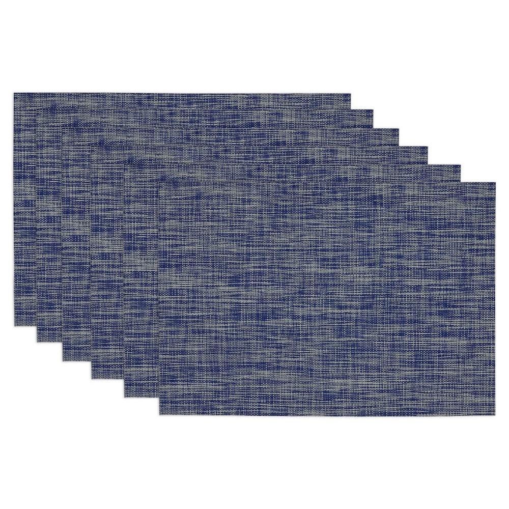 Blue Tonal Tweed Napkins Set Of 6 Design Imports