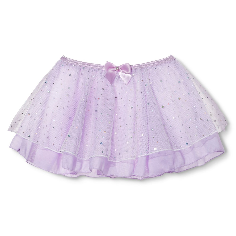 Danz N Motion Girls' Tutu - Lavender M, Black