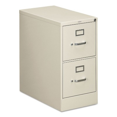 HON 310 Series Two-Drawer Full-Suspension File Letter 26-1/2d Light Gray 312PQ