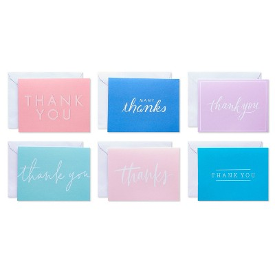 50ct Thank You Carlton Cards with Envelopes Pastel