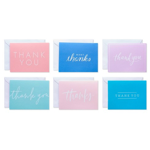 50ct Thank You Carlton Cards with Envelopes Pastel - image 1 of 4