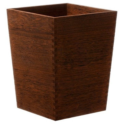 Square Trash Can Dark Wood - Threshold™