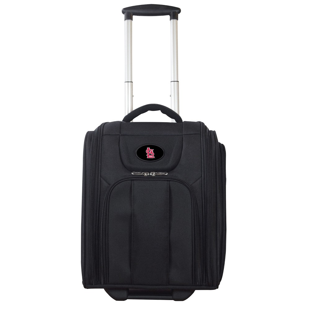MLB St. Louis Cardinals Deluxe Wheeled Los Angeles Laptop Briefcase, Adult Unisex, Size: Small