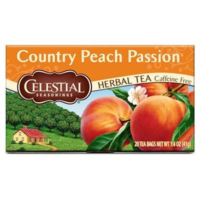 Celestial Seasonings Country Peach Passion Caffeine-Free Herbal Tea - 20ct