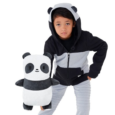 Cubcoats Kids Papo the Panda 2-in-1 Stuffed Animal & Hooded Zip Up Sweatshirt
