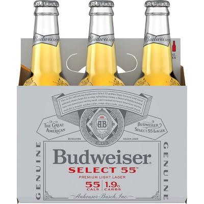Budweiser Select 55 Premium Light Beer - 6pk/12 fl oz Bottles