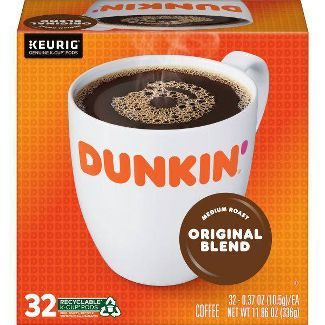 Dunkin Donuts Original Roast Medium Roast Coffee - Keurig K-Cups - 32ct