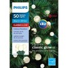 Philips 50ct Christmas LED Smooth Sphere String Lights Warm White - image 2 of 3