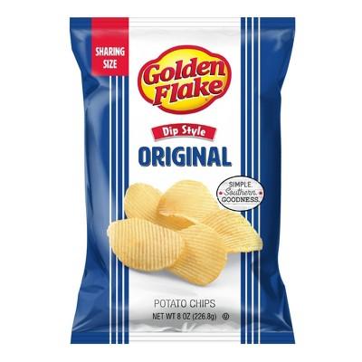 Golden Flake Dip Style Potato Chips - 8oz