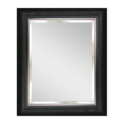 "28"" x 34"" Alderton Black and Silver Mirror - Head West"