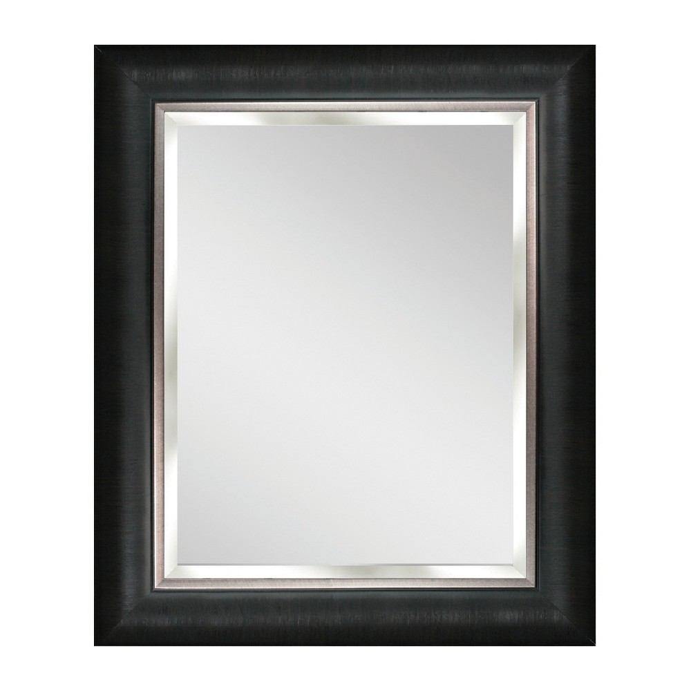 "Image of ""Head West 28"""" x 34"""" Alderton Black and Silver Mirror, Multi-Colored"""