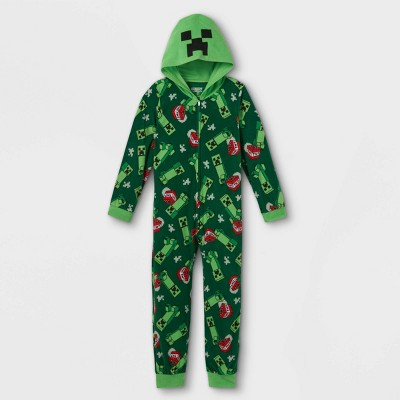 Boys' Minecraft Union Suit - Green