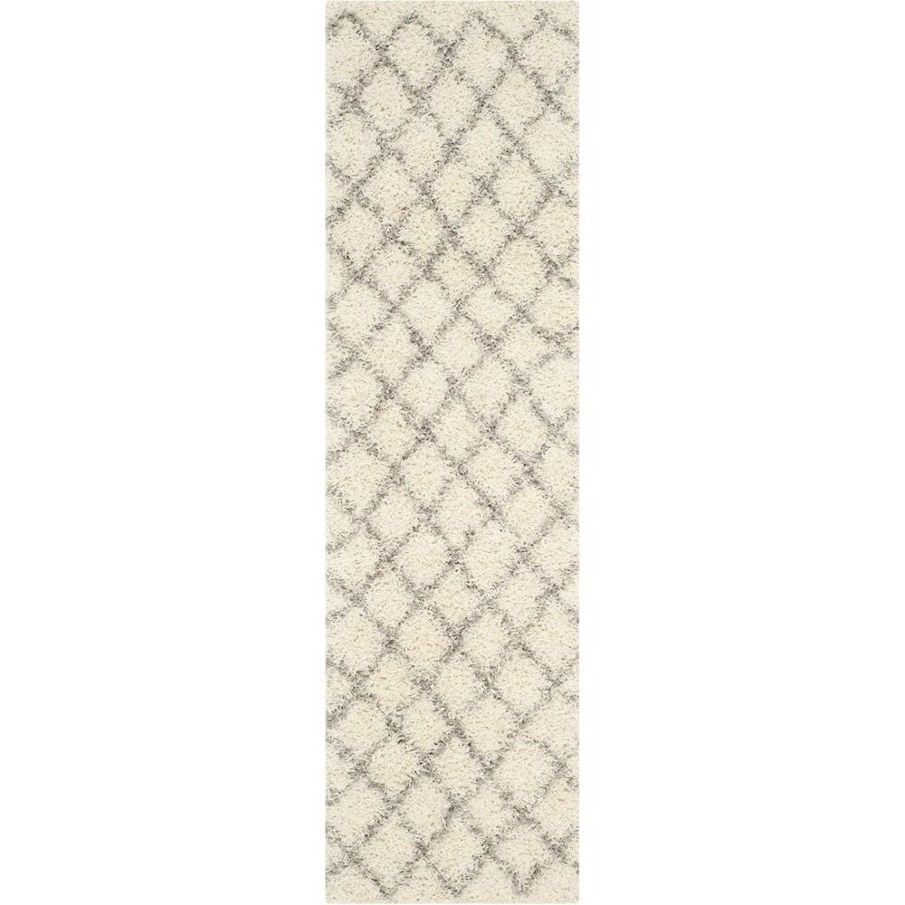 Geometric Loomed Area Rug Ivory/Gray