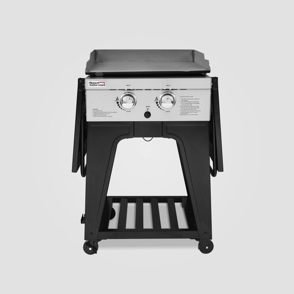 2 Burner Propane Gas Grill Griddle GB2000 Black – Royal Gourmet 54442089