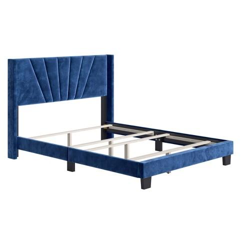 Queen Ariana Velvet Upholstered, Upholstered Platform Queen Bed Frame