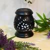 Solar Powered Ceramic LED Lantern Black - image 3 of 4