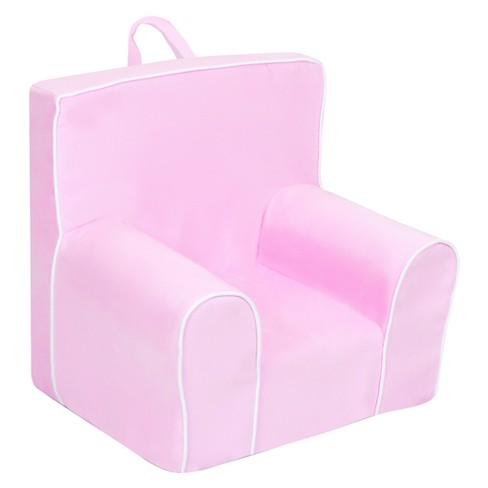 Champion Grab-N-Go Kids' Foam Chair With Handle - Bubblegum With White Welt - Kangaroo Trading Co. - image 1 of 2