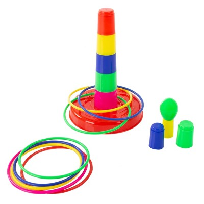 Toy Time Kids' Adjustable Ring Toss Carnival Game for Indoor and Outdoor Use