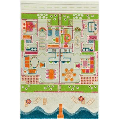 IVI World 3D Play Carpet 59 x 39-inch Educational Beach House Soft and Cozy Floor Rug Mat for Bedroom, Kids Den, or Playroom, Medium