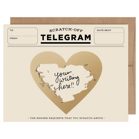 6ct Classic Telegrams Scratch-off Greeting Cards - image 1 of 4