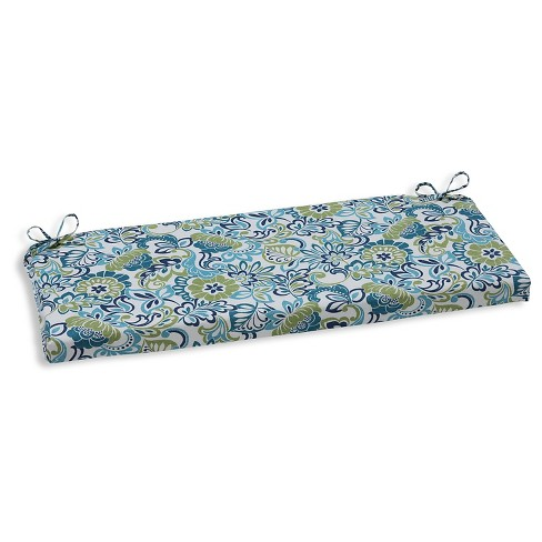 Pillow Perfect Zoe Mallard Outdoor Seat Cushion - Blue - image 1 of 1