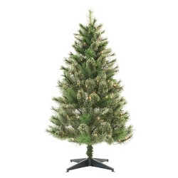 4.5ft Pre-lit Artificial Christmas Tree Virginia Pine Clear Lights - Wondershop™