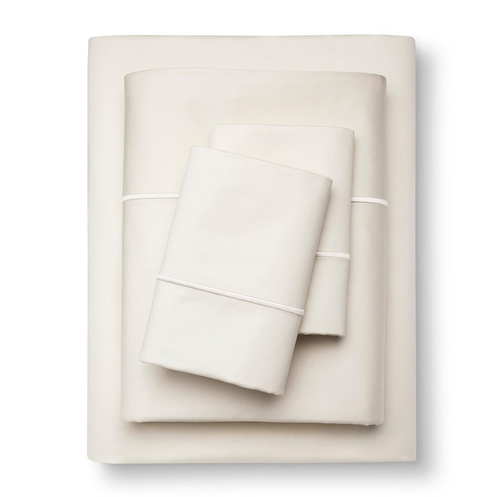 Supima Cotton Sheet Set (King) Ivory 1000 Thread Count - Fieldcrest
