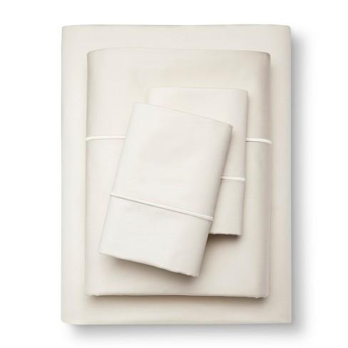 Queen 1000 Thread Count Supima Cotton Sheet Set (Queen) Ivory 1000 Thread  Count - Fieldcrest®
