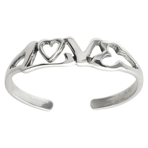 Women's Journee Collection Love Toe Ring in Sterling Silver - image 1 of 2