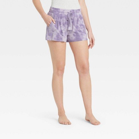 Women's Tie-Dye Beautifully Soft Pajama Shorts - Stars Above™ Purple - image 1 of 2