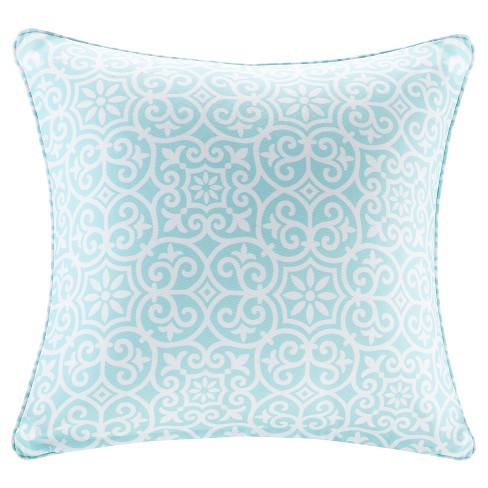 Delmar Printed Fret 3M Scotchgard Outdoor Square Pillow - image 1 of 3
