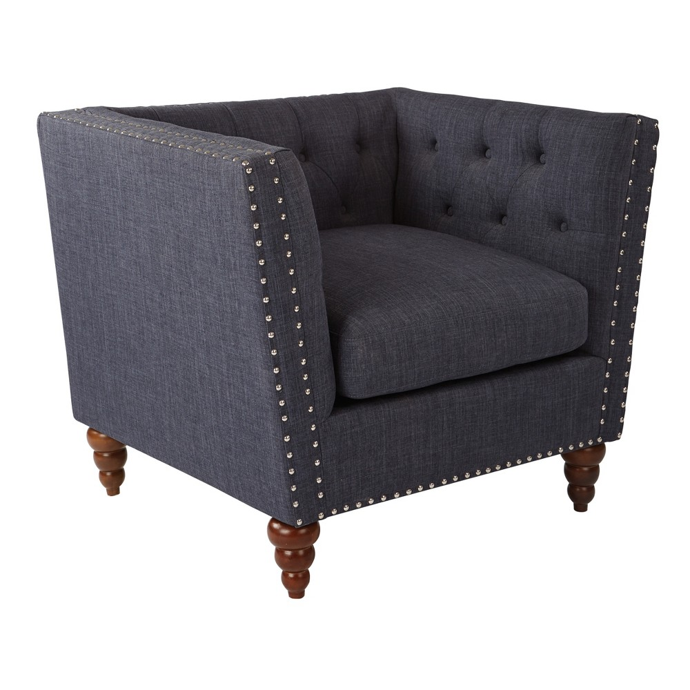 Darell Accent Chairs Navy (Blue) - Osp Home Furnishings
