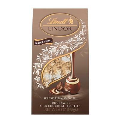 Lindt Lindor Fudge Swirl Milk Chocolate Truffles - 6.0oz