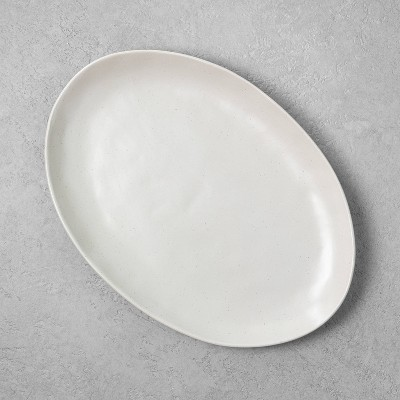 Refined Stoneware Oval Serve Tray Speckled Natural - Hearth & Hand™ with Magnolia