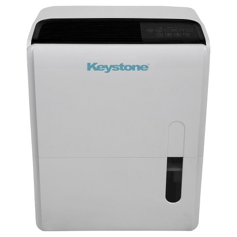 Keystone - Energy Star 95 Pint Dehumidifier with Built-In Pump - Black/White - image 1 of 4