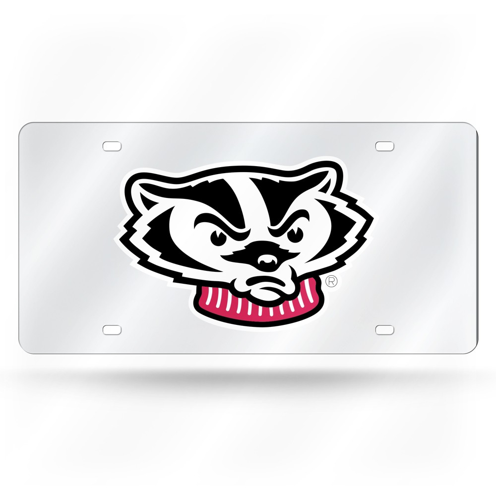 Wisconsin Badgers Rico Industries Silver Laser Cut Auto Tag