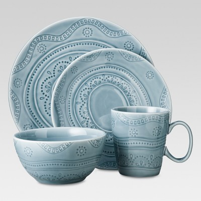 16 Piece Kennet Azure Dinnerware Set - Blue - Threshold™