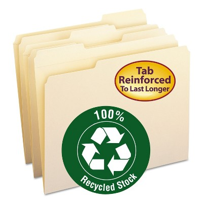 Smead Two-Ply File Folders 1/3 Cut Top Tab Letter Manila 100/Box 10347