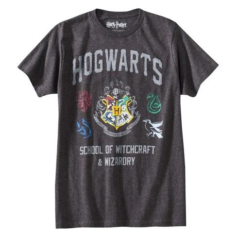 138aa8df4 Men's Harry Potter Hogwarts T-Shirt - Gray : Target